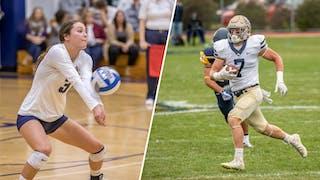 Tina (Hoppe) Dalki '18 and Dawson Brown '19 Receive NCAA Postgraduate Scholarships