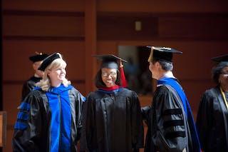 A seminary student at graduation.