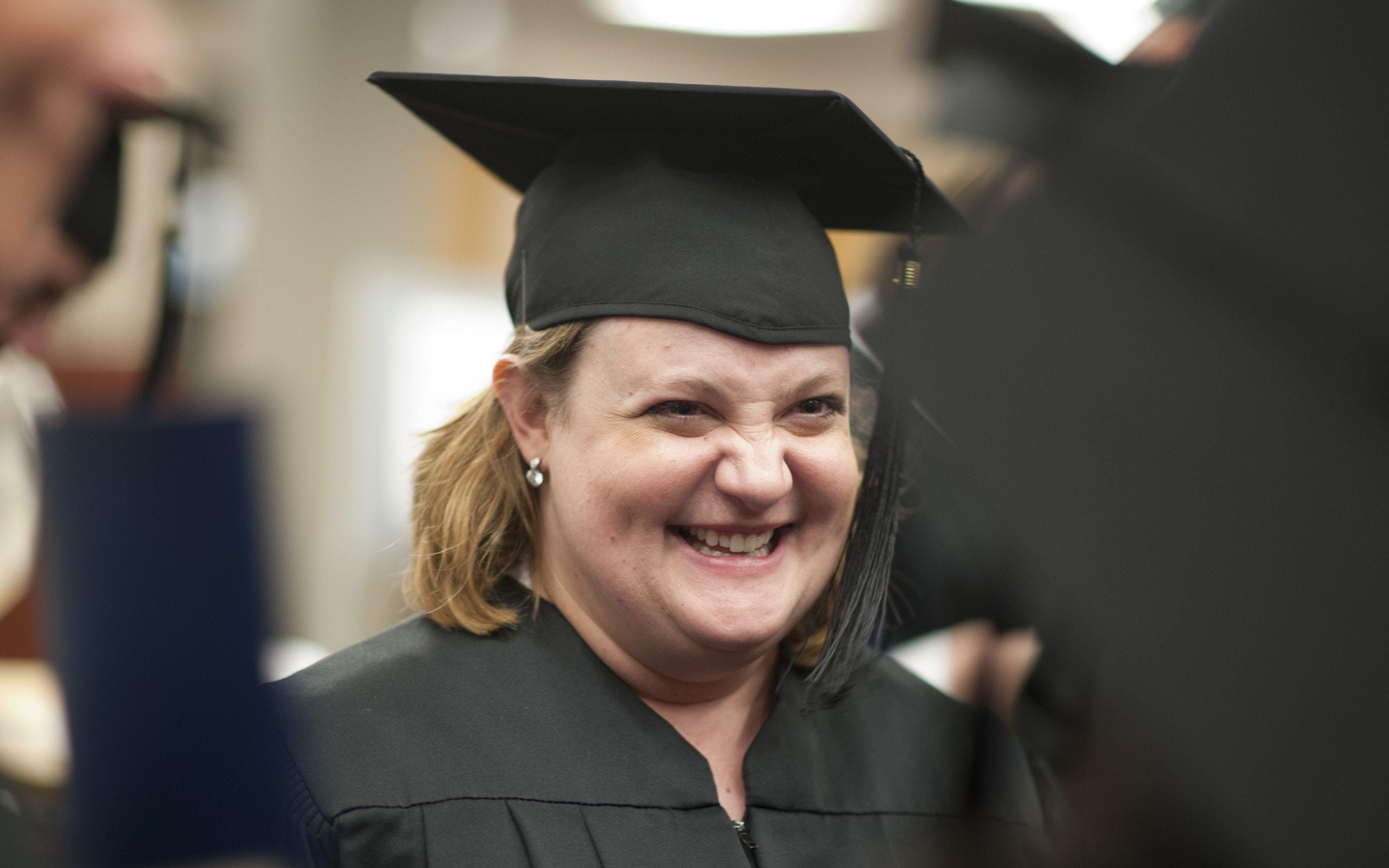 An adult graduates