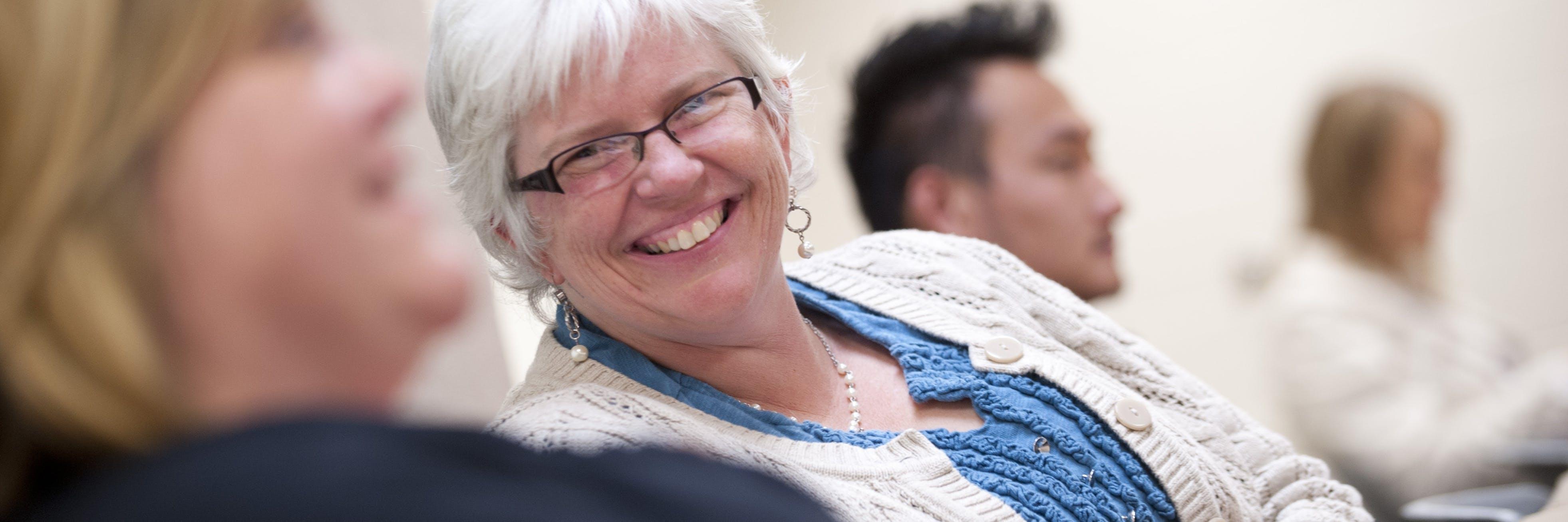 Bethel student smiling at the camera