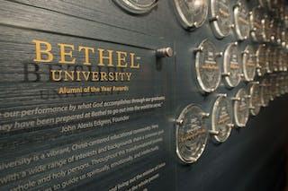 Alumni of the Year wall