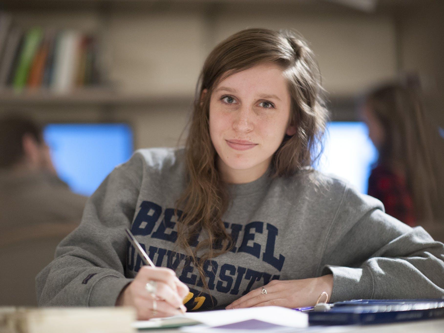 Bethel student smiling