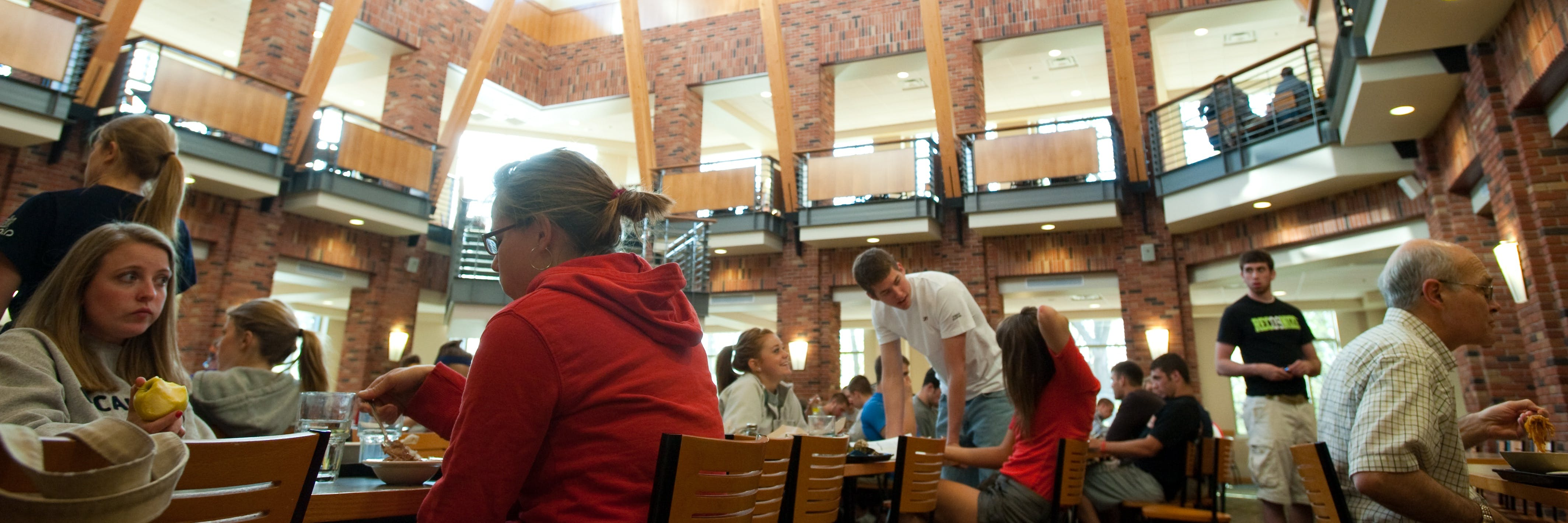 Students eating in the Monson Dining Center