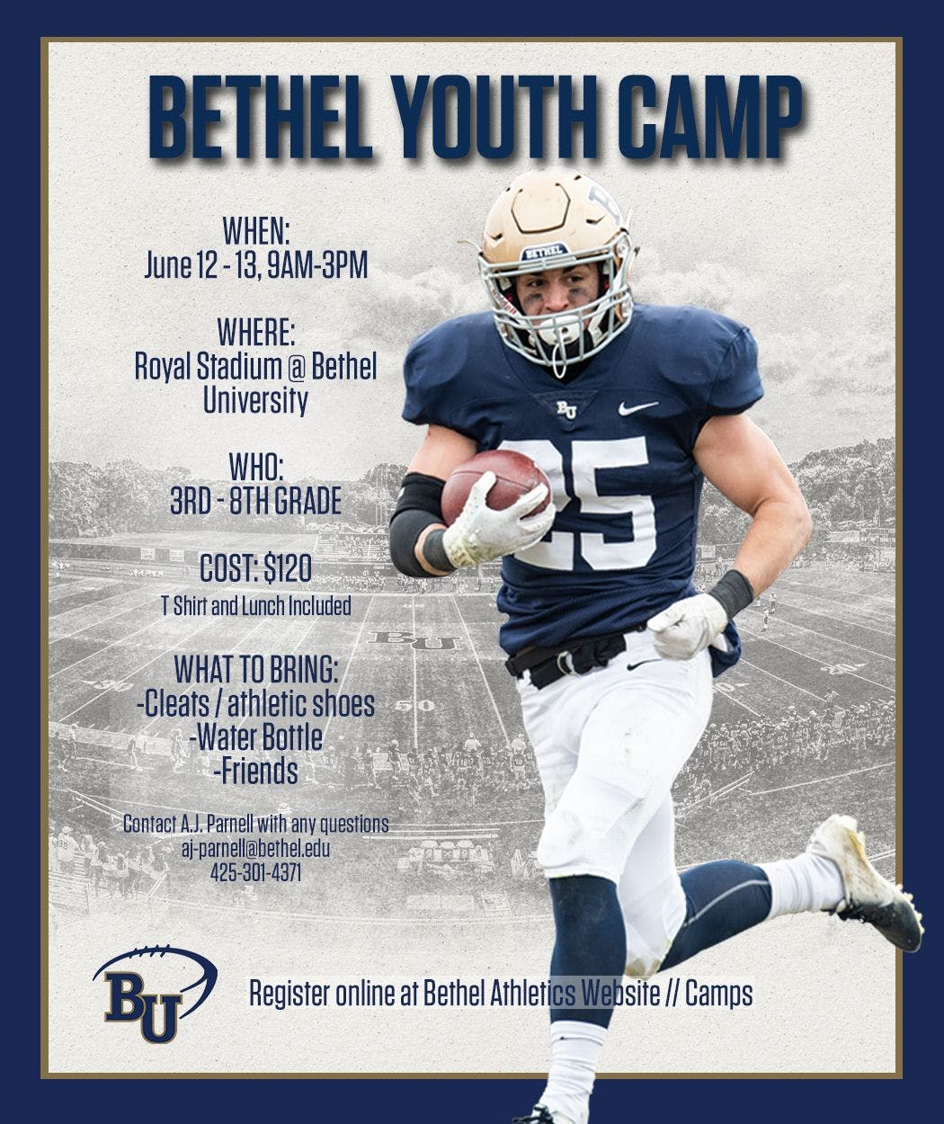 Bethel University Online >> Bethel Football Youth Camp Bethel University