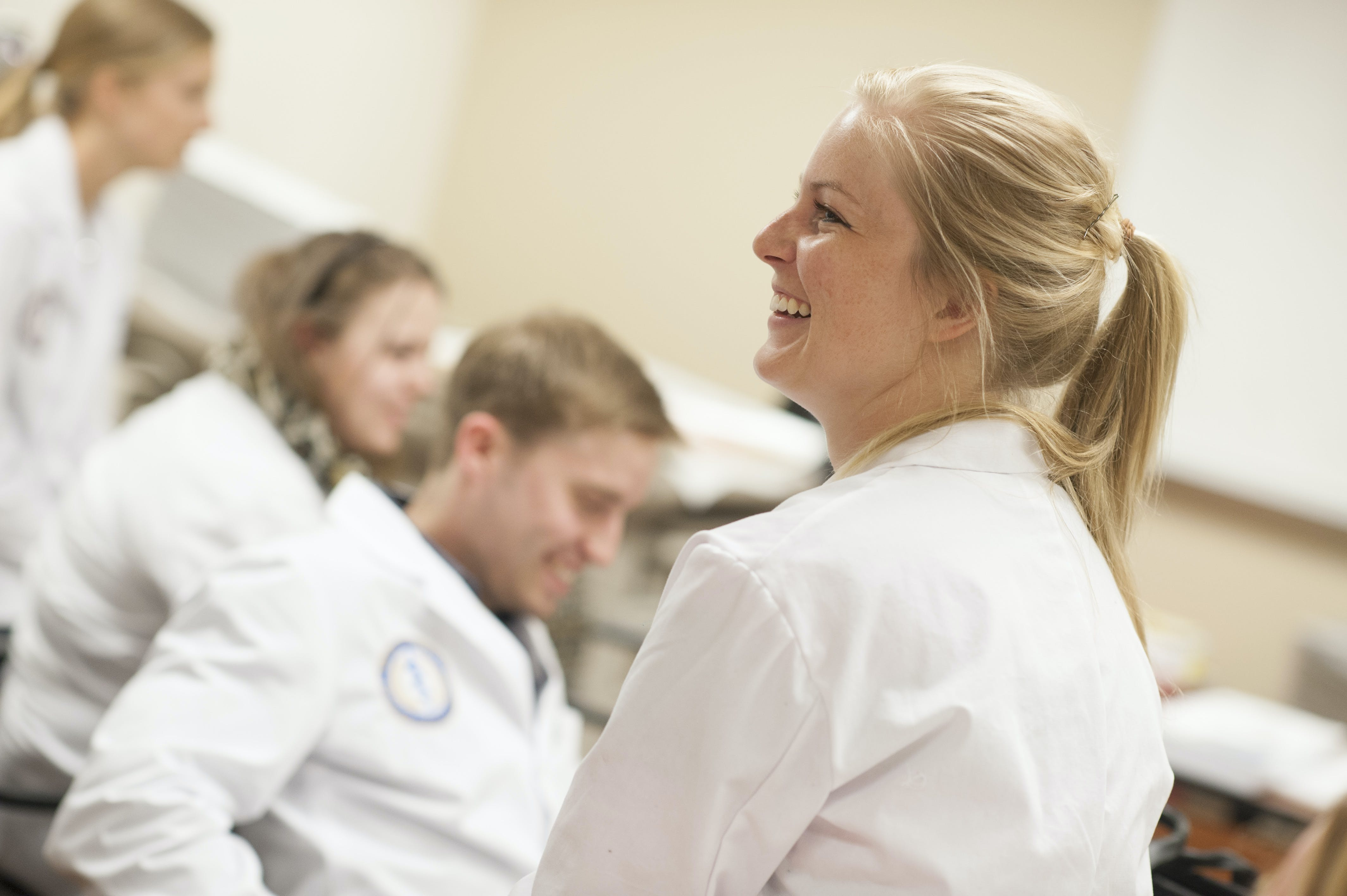 Men and women in the physician assistant program
