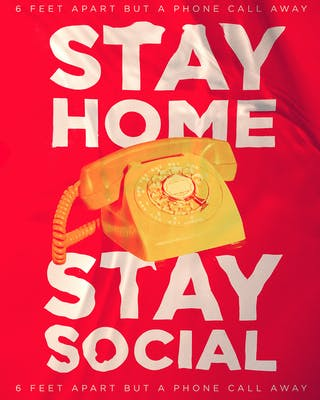 Bryson Rosell '22   Stay Home, Stay Social   photoshop, photograph