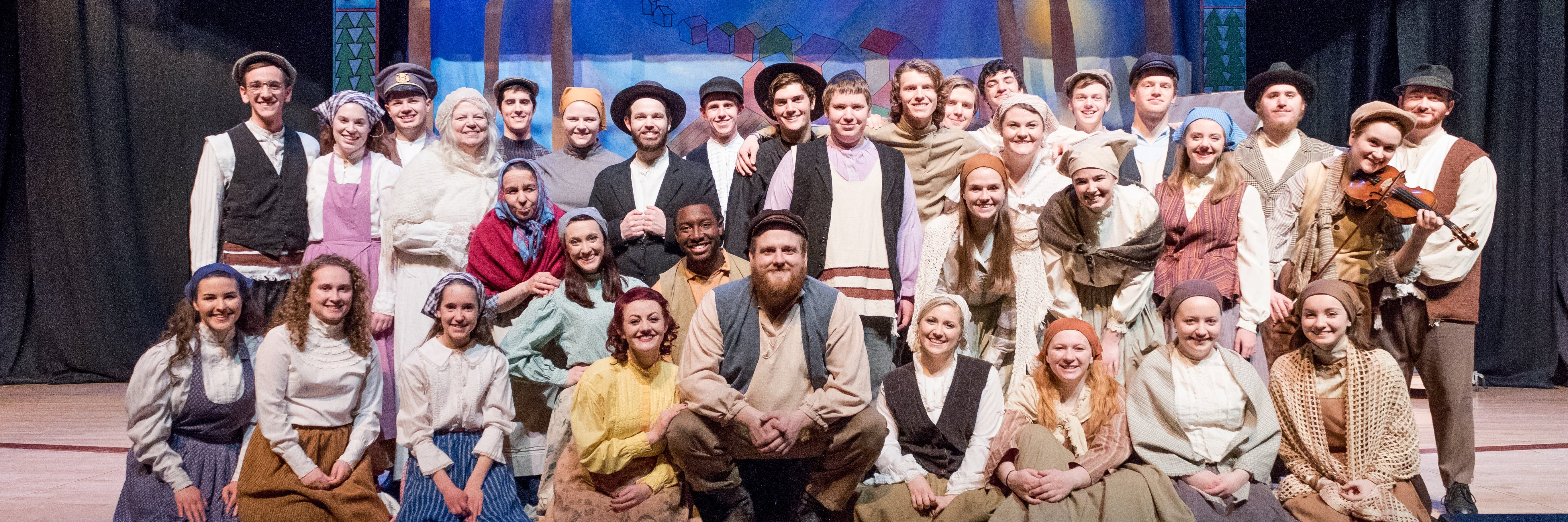 The Fiddler on the Roof cast