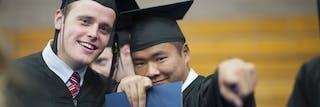 Bethel graduates smiling for the camera
