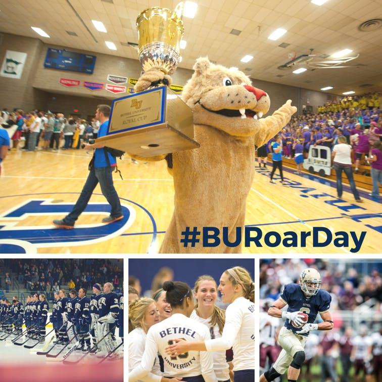 A ROAR Day social media image featuring BU Athletics.