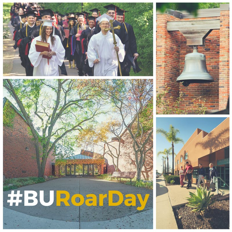 A ROAR Day social media image featuring Bethel Seminary.