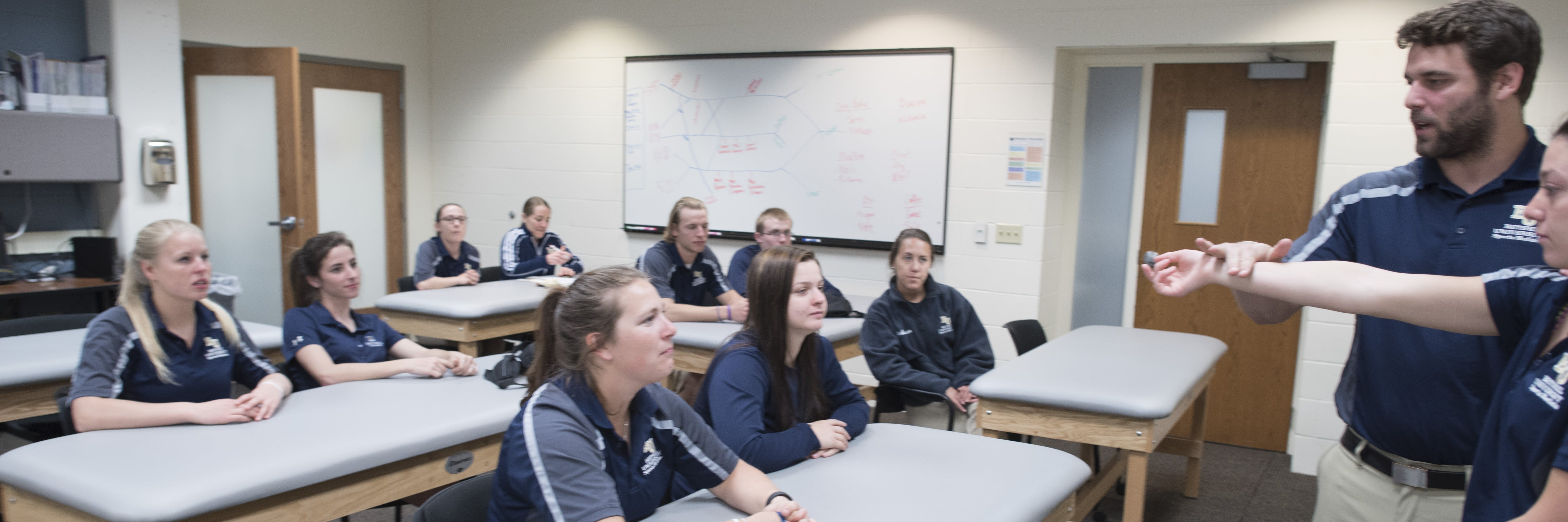 Athletic training program students in classroom