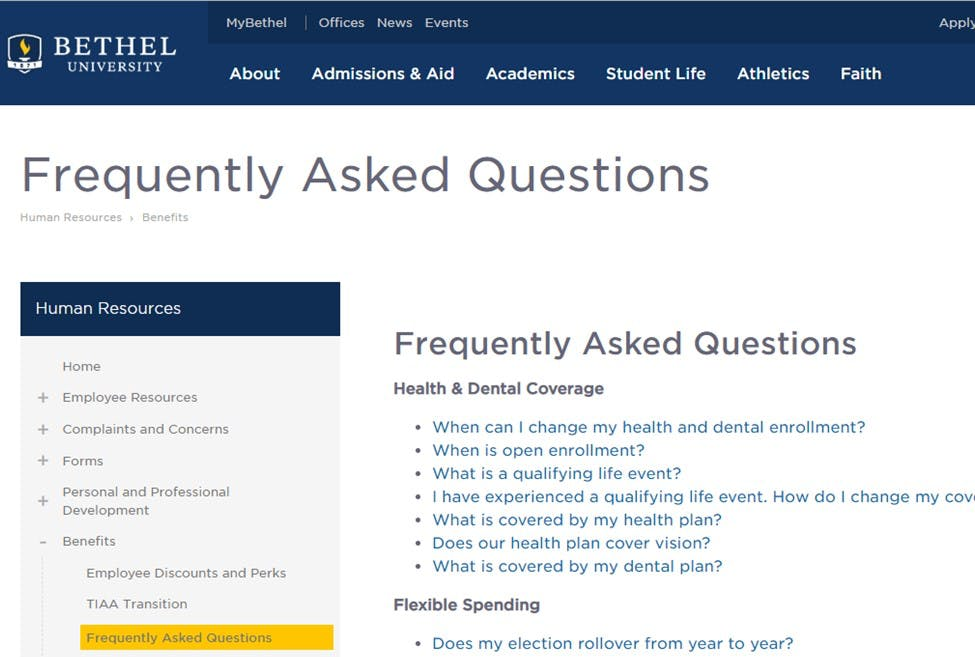 Frequently Asked Benefits Questions