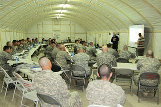 Bethel Faculty Member Travels to Kuwait to Talk to Troops