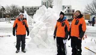 Alums Win Snow Sculpture Contest