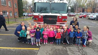 Campus CDC Kids Celebrate Fire Safety Month