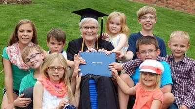 Grandmother of Nine Graduates from Bethel