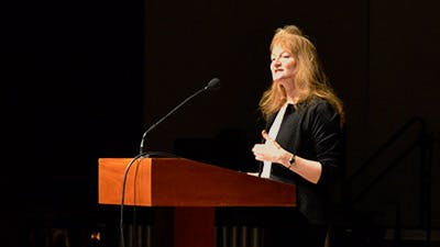"Krista Tippett Speaks at ""Faithful Science"" Convocation"