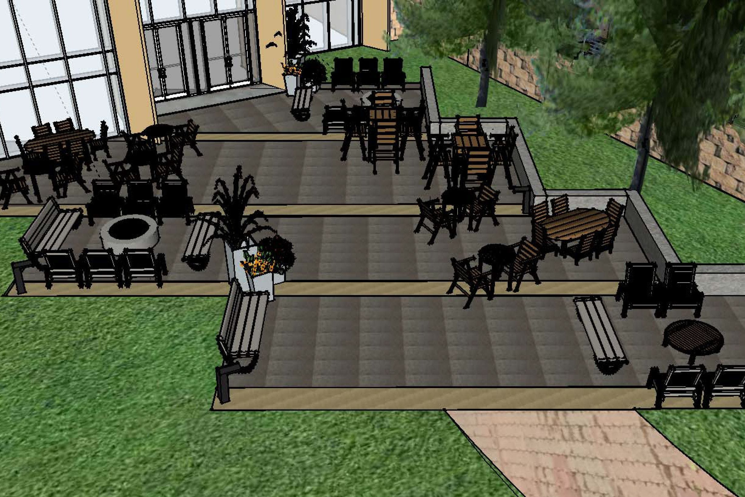 Bethel Student Government (BSG) Funds Patio Expansion in Kresge Courtyard