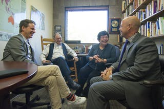 Alumni create scholarship to honor favorite communication studies professors.