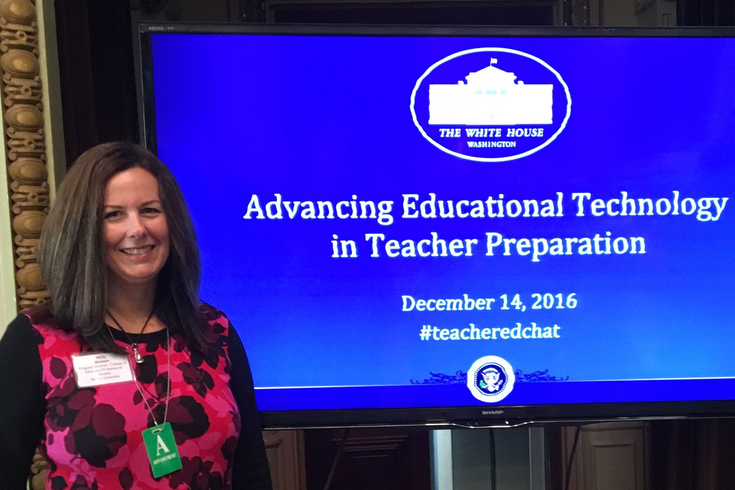 Bethel Program Director Attends Educational Technology Summit at White House
