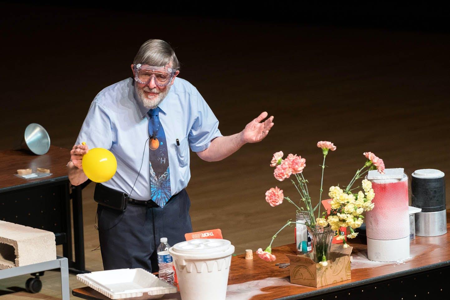 Nobel Laureate Bill Phillips Visits Bethel