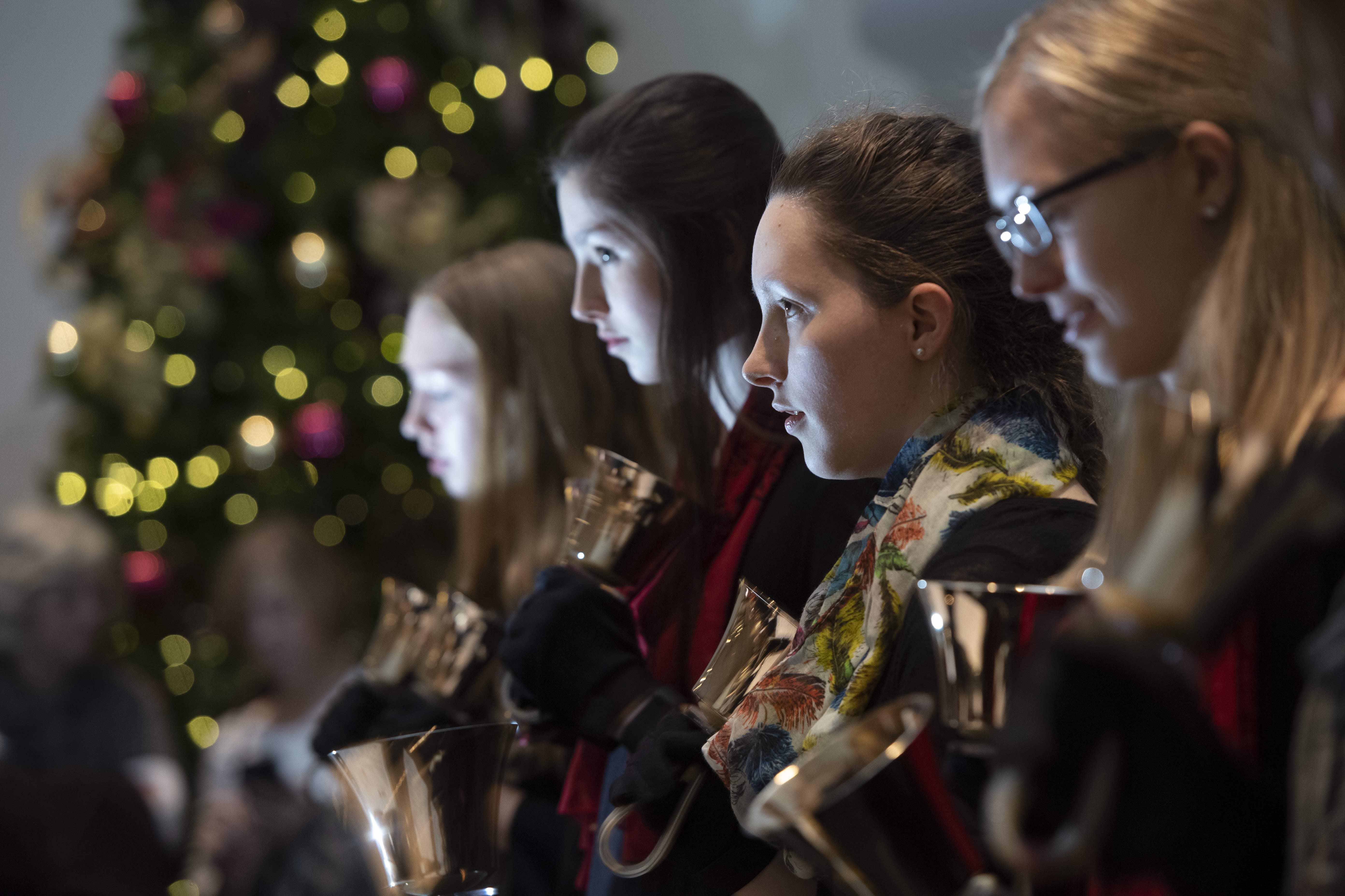 Bethel Handbell Ensemble performs during Festival of Christmas 2018.