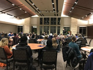 Bethel Students Share Faith Stories with Augsburg and St. Thomas Students