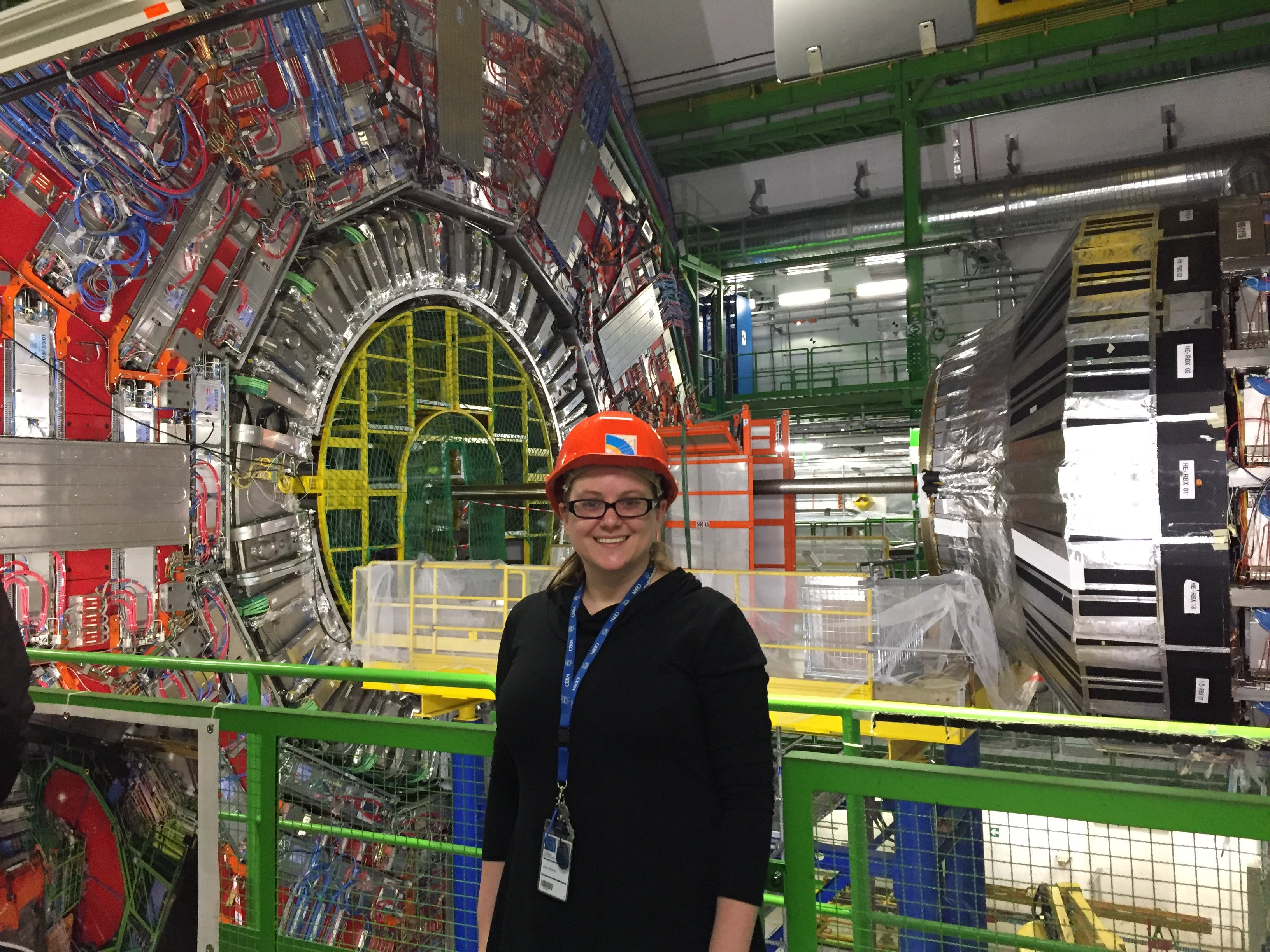 Assistant Professor of Physics Julie Hogan at the Large Hadron Collider (LHC) at CERN in Switzerland.