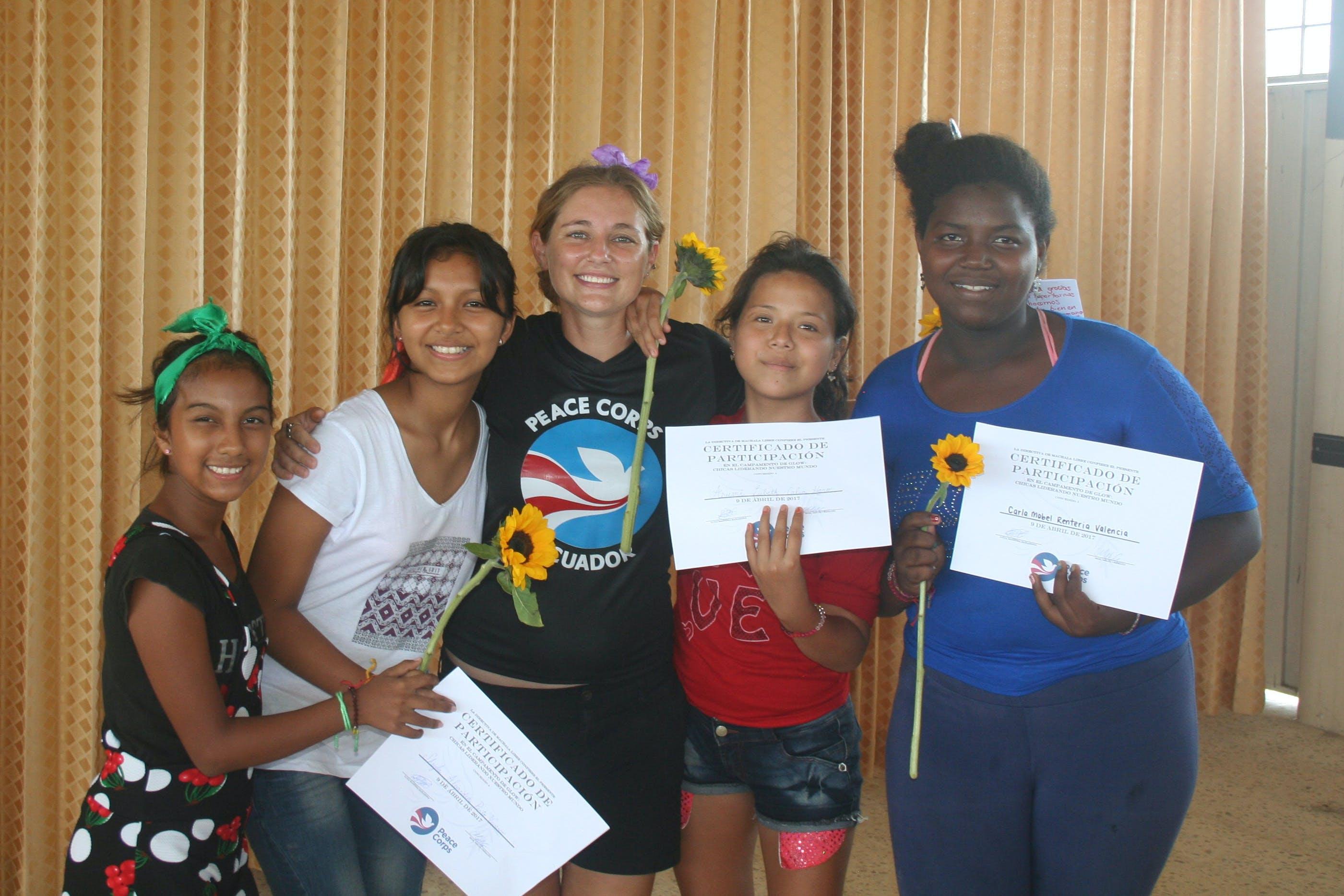 Melia with Barrio Girls