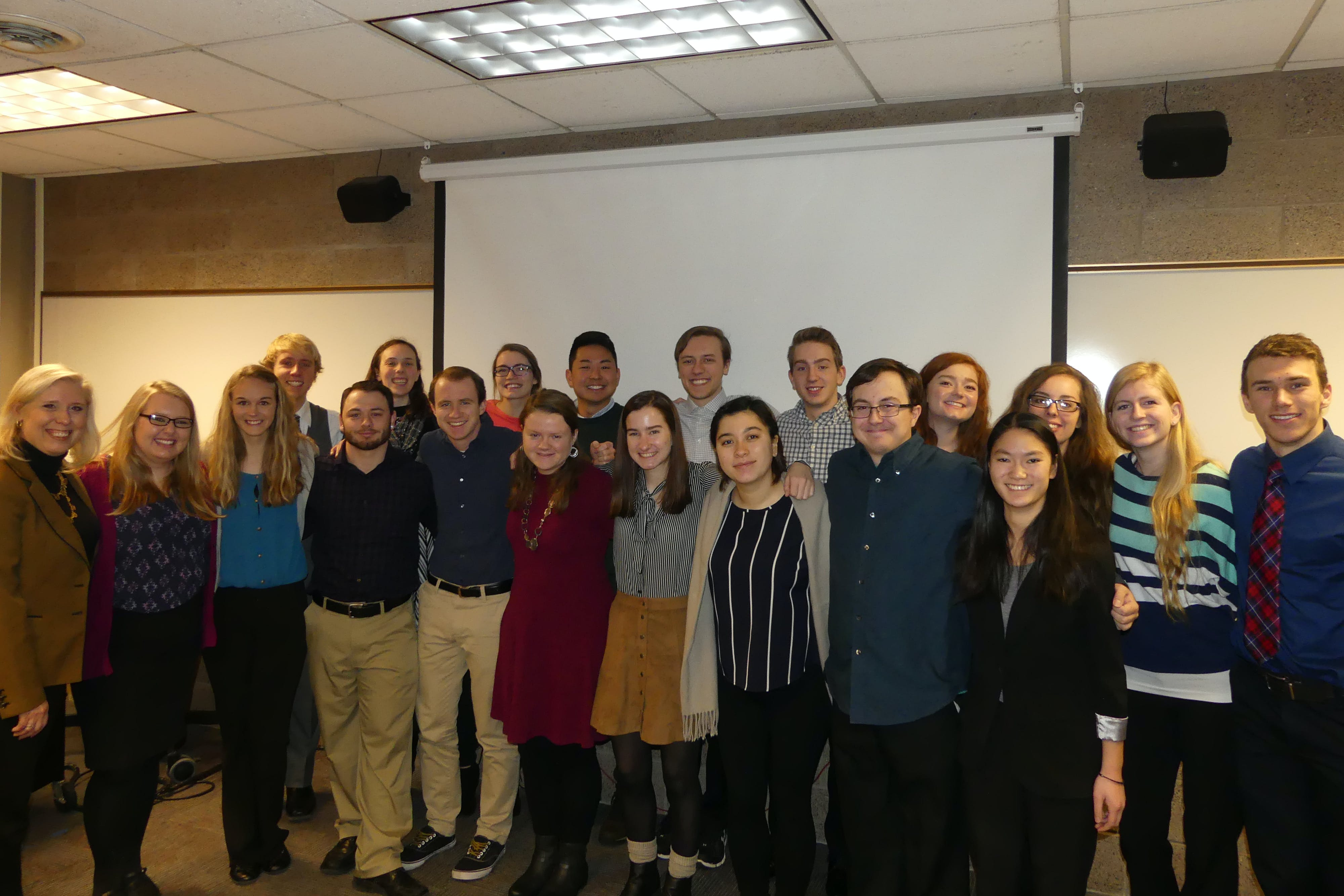 Students in Professor of Mathematics Patrice Conrath's Operations Research class worked with Minnesota nonprofits Feed My Starving Children and Venture to design a food packing plant in Nepal.