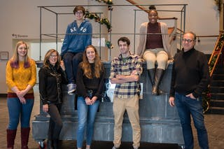Art Students Engage Bethel Community with Evocative Portable Monument Sculpture