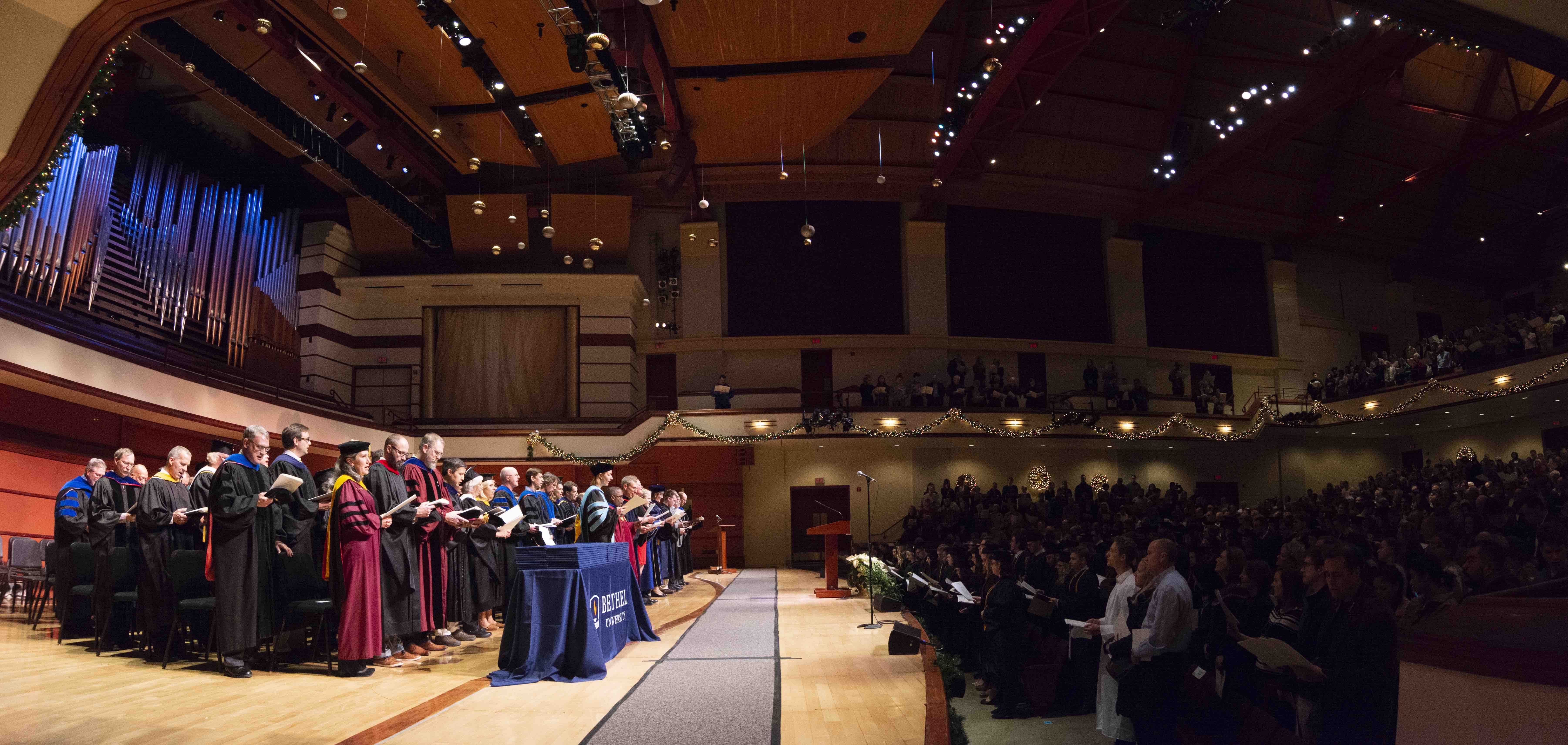 Winter 2018 Commencement at Bethel University