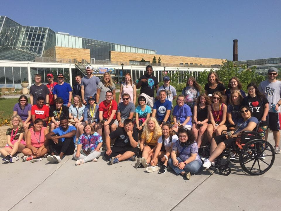 Students and mentors on a field trip with the BUILD program