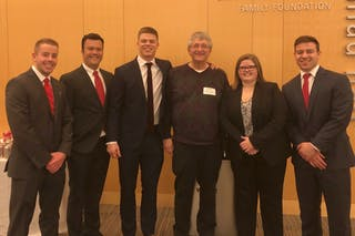 Bethel's Chartered Financial Analyst team and their faculty advisor