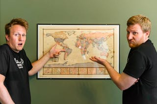 Ducklow Brothers with Map
