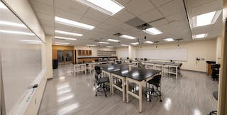 Engineering lab on the 2nd level of Bethel University's Academic Center (AC)
