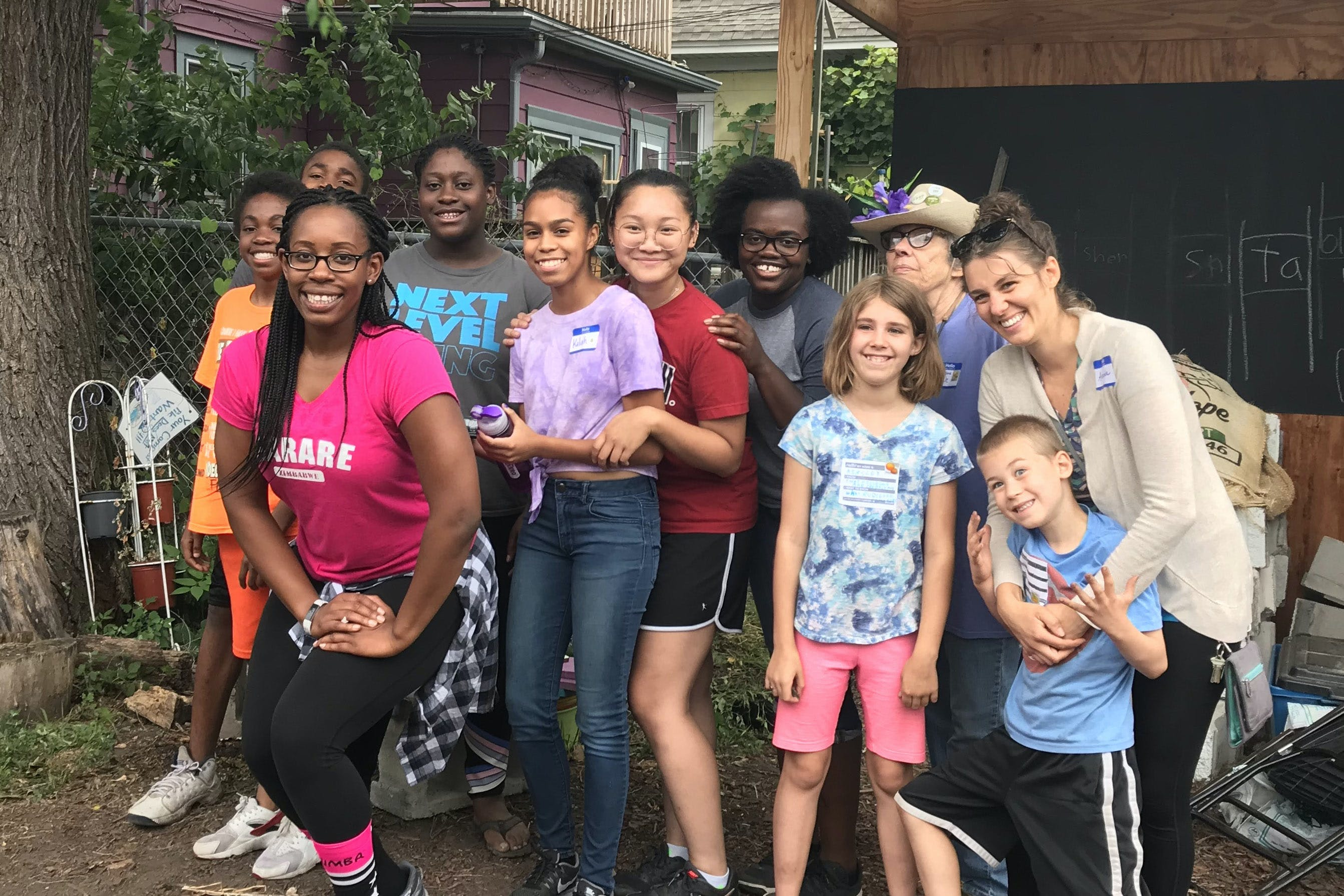 Hilda Davis works with the Urban Farm and Garden Alliance through Bethel University's partnership with the Frogtown and Summit-University neighborhoods.
