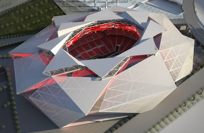 Mercedes-Benz Stadium in Atlanta, Georgia.