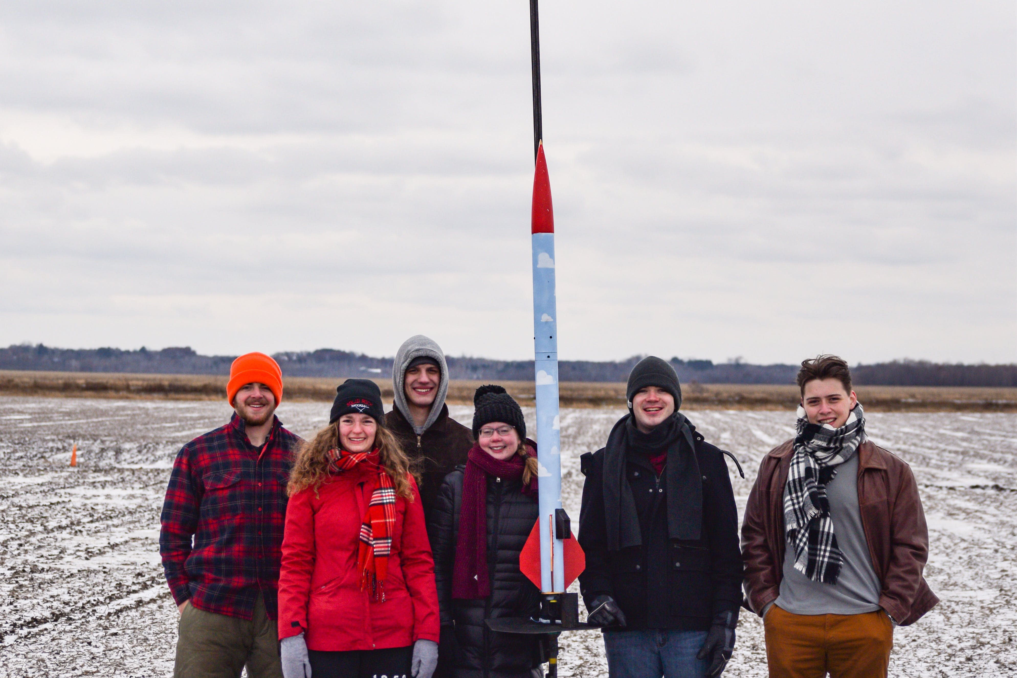 The Rocket Club at their first launch: November 2018 in North Branch, Minnesota