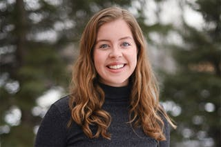 Lizzy Carson '22 was named a 2020-21 Newman Civic Fellow.