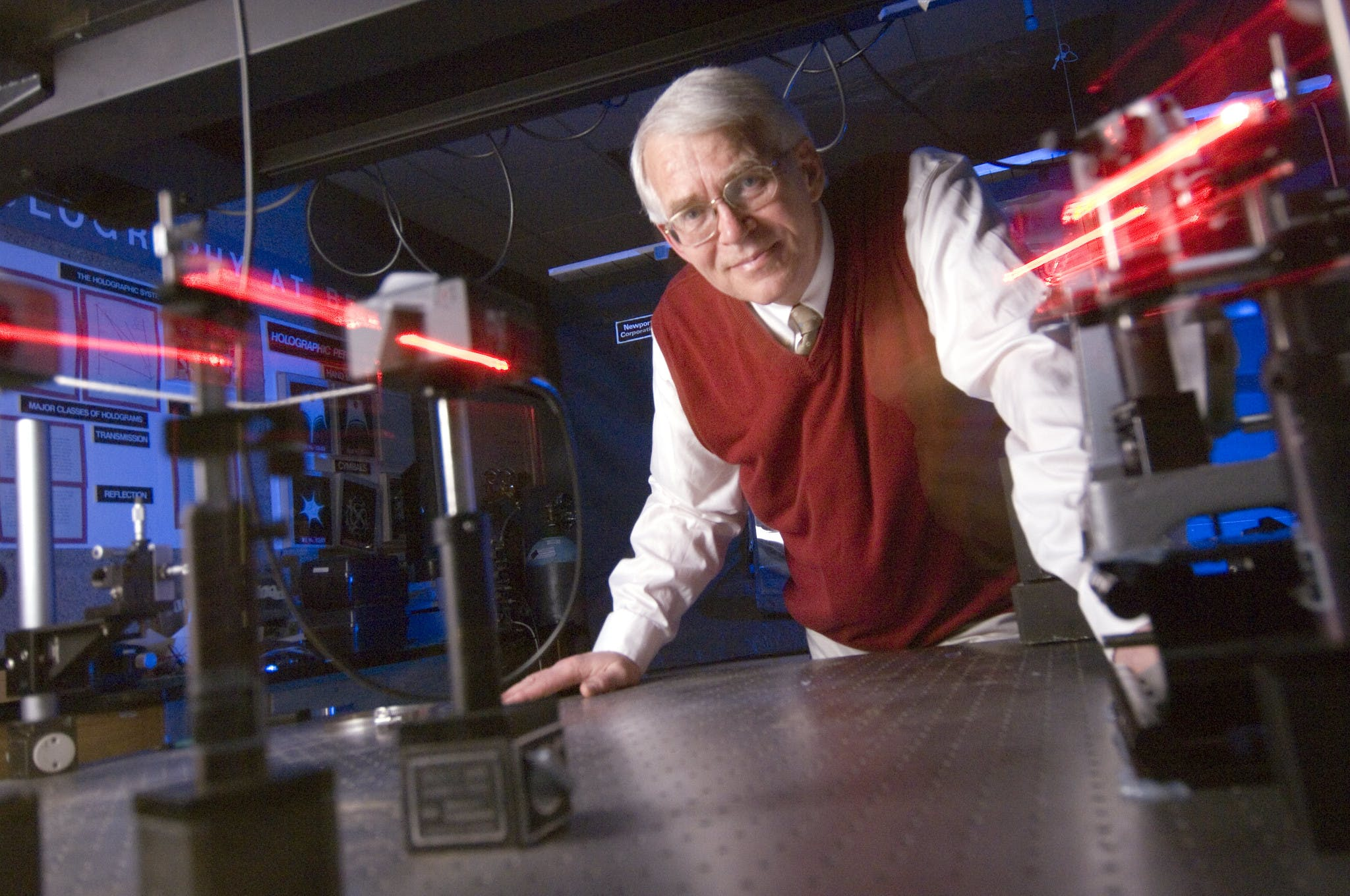 At Bethel, Peterson advocated for advancing research and high-level labs in the physics and engineering department.