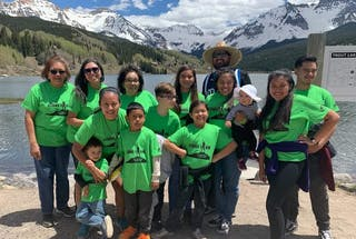 Sarah Sanchez '17 and part of her extended family at their annual church summer camp.