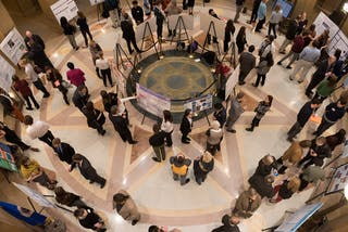 Bethel students presented in the Minnesota State Capitol rotunda on March 11.