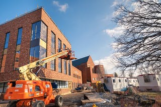 Exterior view of the science addition that will open fall 2020 at Bethel University