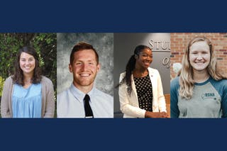 Bethel students Maddie Christy '20, Jake Marsh '20, Cassandra Dixon '20, and Koressa Weems '20 were named recipients of the 2020 Servant Leadership Awards.