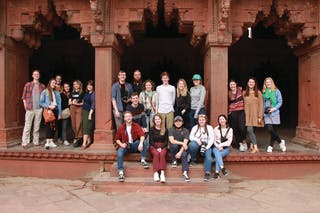 Bethel design and journalism students who traveled to India over J-term
