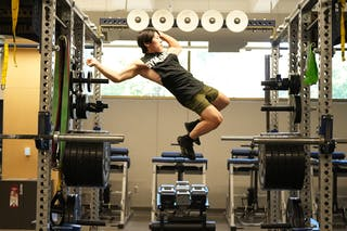 Image of Ben Martin training in Bethel's Wellness Center