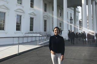 Diba Domínguez in Washington D.C.
