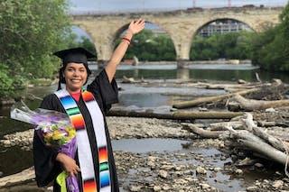 Diba Domínguez, Bethel University graduate