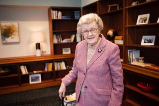 Sagrid E. (Eleanor) Edman helped found the Department of Nursing at Bethel University.